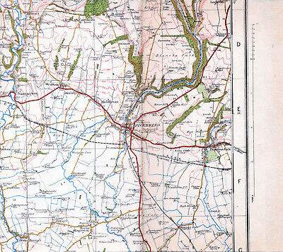 Yorkshire Pickering Thornton Dale 1930 orig. part map /cloth Cropton Misperton
