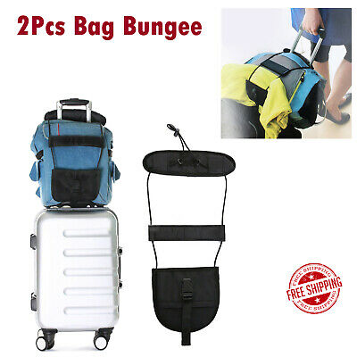 2Pcs Travel Suitcase Bag Strap Luggage Bungee Adjustable Tape Belt Tie Carry On