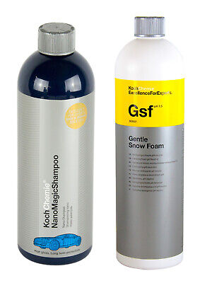 KOCH CHEMIE Nano Magic Shampoo 750 ml & Gsf Gentle Snow Foam Shampoo 1 L Liter