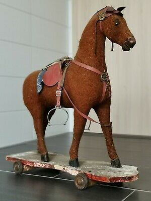 Antikes Schaukelpferd Um 1900 Rocking Horse 59Cm Original Zustand / Antique Rar