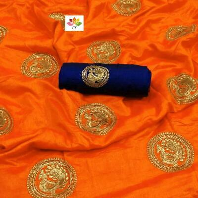 Clothing, Shoes & Accessories Indian Bollywood Peacock Designer Sana Silk Saree Wedding Party Wear Sari Blouse Women's Clothing
