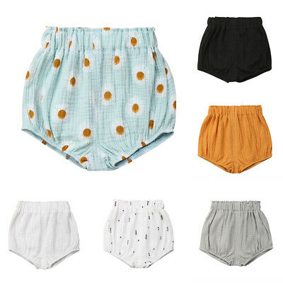 AU Stock 0-5T Newborn Baby Boy Girl Kids Pants Shorts Bottoms PP Bloomer Panties