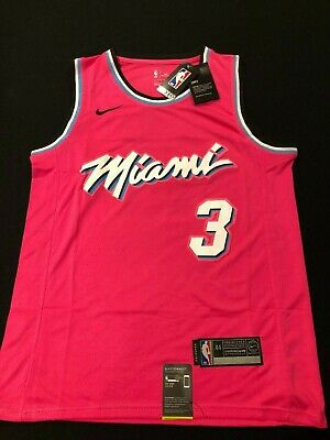 c9729774 Dwyane Wade #3 Miami Vice City Edition Mens Stitched Jersey Pink NWT Free  Ship