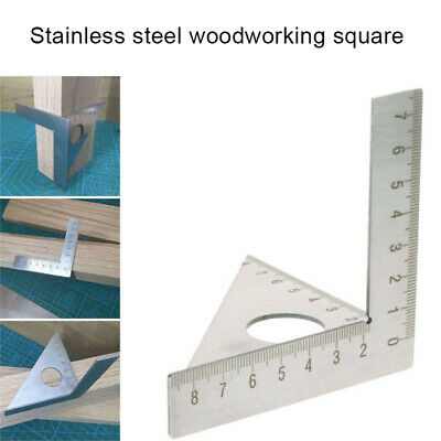 Square Layout Miter Triangle Rafter 45° 90° Metric Gauge Woodworking Ruler