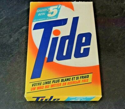 RARE Vintage Unopened Full 435g Powder Box Tide Detergent European Film Prop etc