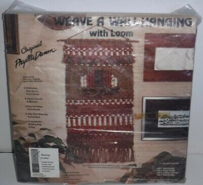 Vintage 1978 Weave A Wall Hanging With Chipboard Loom Phyllis Damon Fiber
