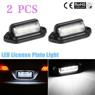 2X 6LED License Number Plate Light Tail Rear Lamp For Truck Trailer Lorry 12/24V