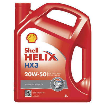Shell Helix HX3 Engine Oil 20W50 SL/CF 5L fits Toyota Town Ace 2.0