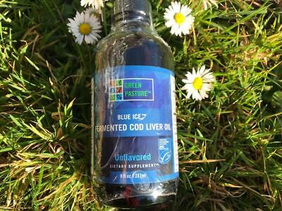 2x Blue Ice Fermented Cod Liver fish Oil Unflavoured Green Pasture EPA  DHA