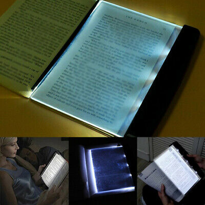 Creative LED Book Light Reading Night Light Flat Plate