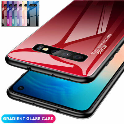 Hybrid Gradient Tempered Glass Case For Samsung Galaxy S8 S9 S10Plus/Note9 Cover
