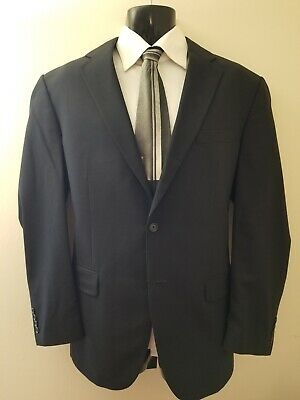 Authentic Jos. A. Bank Men's 100% Wool Suit Size 42L Extra Dark Navy : USA