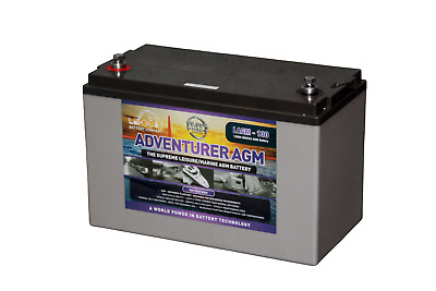 LEOCH 12V 130AH Adventurer AGM Deep Cycle Leisure Battery - 4 Year Warranty