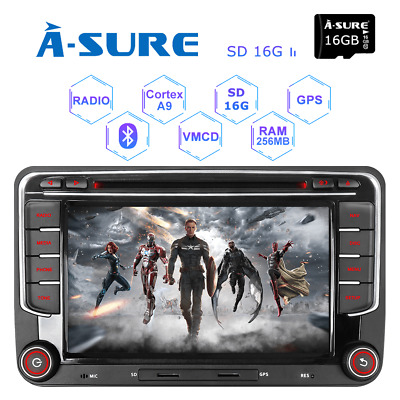 DAB+ VW Passat Golf MK5 MK6 Touran Tiguan Car GPS Stereo Radio SATNAV DVD Player
