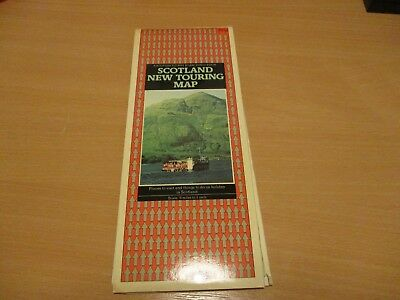 DOUBLE SIDED Touring Map of SCOTLAND - 1977 .ONE OWNER FROM NEW