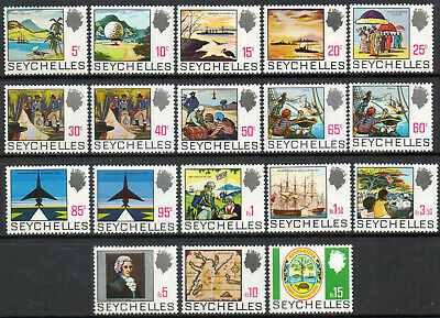 Seychelles 1969 QEII set of mint stamps value to Rs15  Lightly Hinged
