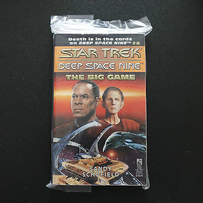Vintage Star Trek Dsn The Big Game Paperback Book Novel (1993)