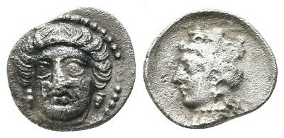 Asia Minor Cilicia Tarsos Female Facing / Aphrodite Silver Obol Very Rare Coin