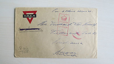 Cover Canada YMCA Passed By Censor 5027 S to Norway 1918