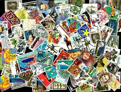 100 GB COMMEMORATIVES   selection      mostly different off paper good used