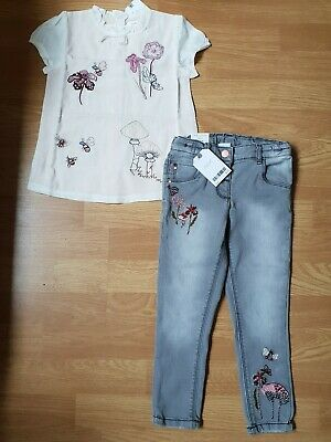 Girls Next set Skinny Jeans and top 3-4 Bnwt 🍄