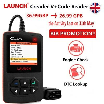 Launch Car Code Reader Full OBD2 Test Engine Diagnostic Scanner Repair Tool UK