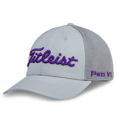 56345ed933cf4 Titleist Tour Sports Mesh Men s Golf Hat NEW Grey Purple Fitted Medium Large