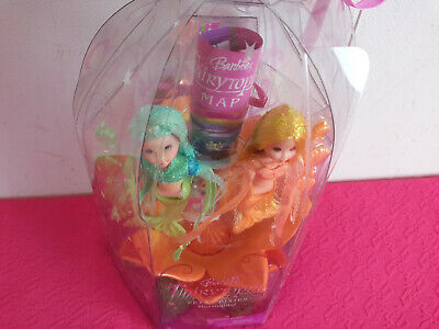 "2004 Barbie Fairytopia ""Petal Pixies Mermaids"" ""Bella & Caprice"" Boxed Set New"
