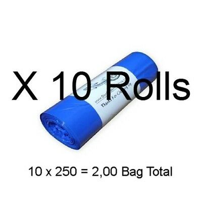 "Dog Waste Bags 2500 (on 10 Rolls) Printed Biodegradable Doggie Poop 8"" X 14"" #20"