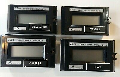 Lot of 4 Action Instruments Loop Powered Indicator V560 LR-42272