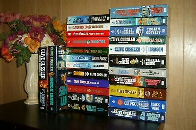 Complete DIRK PITT Series Set 1-24 Revealed Collection lot 25 Clive Cussler Lot