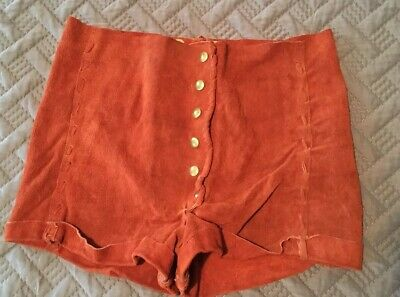 VINTAGE EARLY 1970's WOMENS HOT PANTS CUSTOM SUEDE