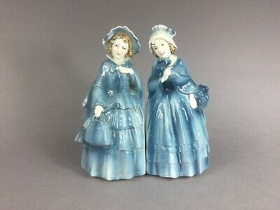 A pair of German Bookends in the shape of ladies