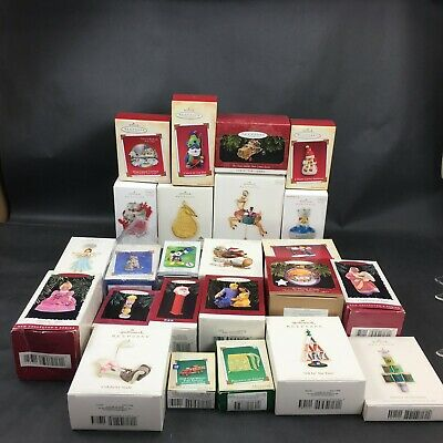 Hallmark Ornament Lot of 23 All in Boxes Contemporary and Vintage