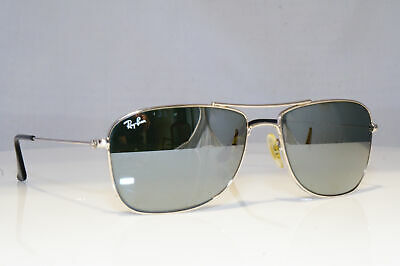 0ced4f9b689 RAY-BAN Mens Mirror Designer Sunglasses Silver Rectangle RB 3477 003 40  19354