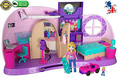 Polly Pocket Go Tiny! Room Playset kids girls gift play set New barbie