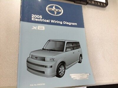 2005 toyota scion xb xb electrical wiring diagram service shop repair manual  ewd