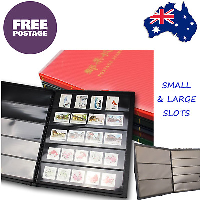 Postage Stamp Collectors Album Folder Book Bank Notes Cards Holder Free Post AUS