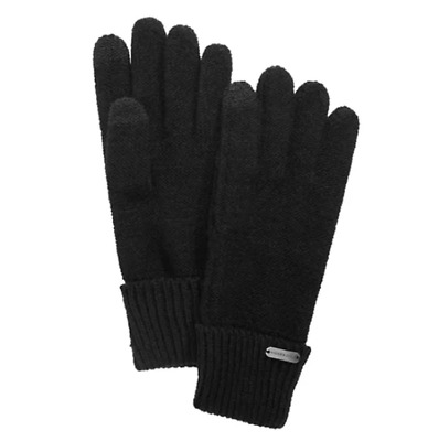 Steve Madden Black Phone And Computer Winter Gloves Solid Black Touch Gloves