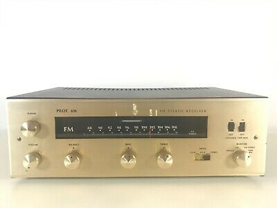*Rare Vintage* Pilot 610 Tube Amp/ Integrated Stereo Receiver Phono/Fm -- Ecl86