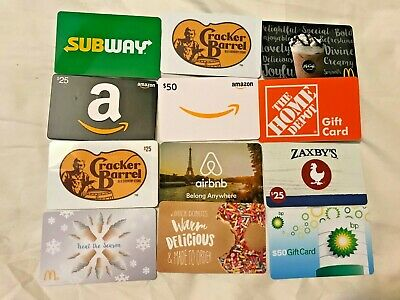 Collectible Gift Card LOT of Diff Cards - No Value HOME DEPOT AMAZON ZAXBYS McD