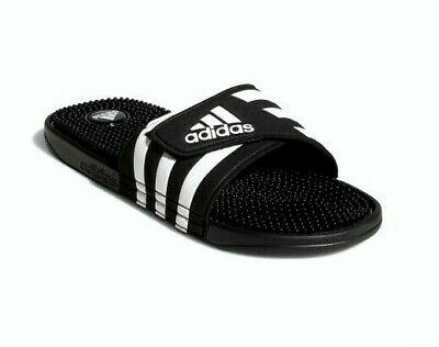 Adidas Youth Unisex Adissage CLF Slides Black//White Size:6 #BY8830 184A z NEW