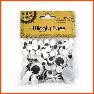 12 x 150 PACK OF WIGGLY EYES | Assorted Shapes Kids Art & Craft Googly Eyes