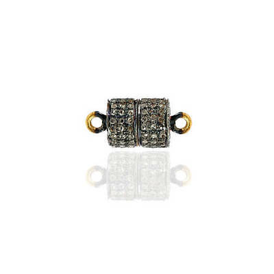 Natural Diamond Pave Connector Finding 925 Sterling Silver Vintage Style Jewelry
