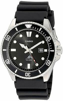 Casio Mens Watch Duro Analog Diver MDV106-1AV 200M  Black Urethane Japan F/S