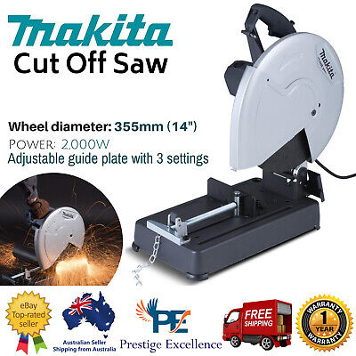 New Makita 355mm 14 Inch MT Series Cut Off Saw 3 Angle Settings 2,000W 355mm AU