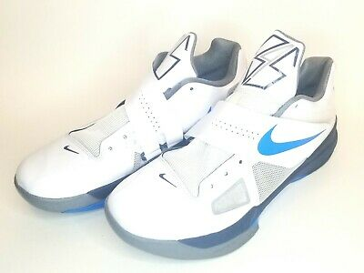 quality design 7859a bc5a9 Nike Zoom KD Kevin Durant IV 4 OKC Thunder White Navy Blue Grey Size 10.5