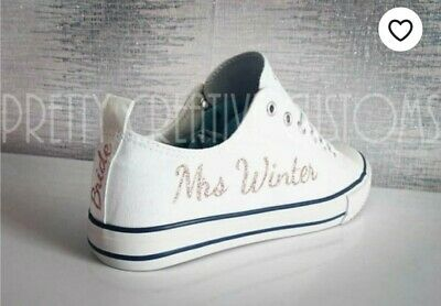 DIY Personalised iron On transfers For converse Or canvas Pumps and bridal shoes