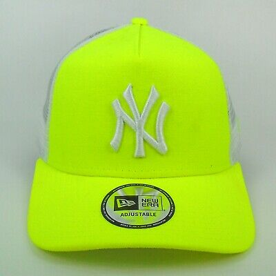 New Era Cap Men's MLB New York Yankees Team Neon Color Trucker Adjustable Hat