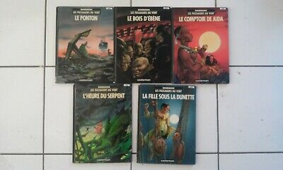 lot 5 bd François Bourgeon LES PASSAGERS DU VENT tomes 1 2 3 4 5 ( Casterman)